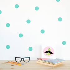 polka dots wall decal mint wall dots home decor polka dot zoom