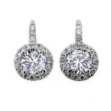 moissanite earrings 0 50ct goden moissanite stud earrings in solid 10k white gold