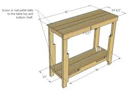 reclaimed wood entry table wood entry table grab a couple of free pallets and make a cute