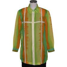 vintage 1980s kokomo tie dye print blouse bright colors from