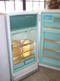 black friday ge refrigerator this 1950s ge refrigerator features a foot pedal opening and
