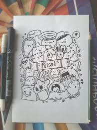 doodle with name doodle name faisal by zamrudart on deviantart