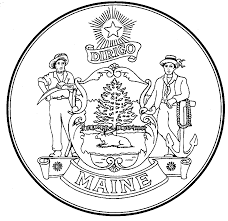 state of maine coloring page select an image print and color