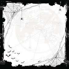 background halloween art halloween background with spiders and bats stock vector art