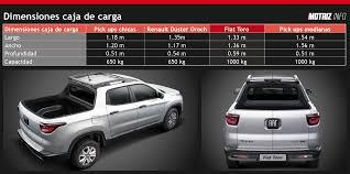 fiat toro pickup fiat toro precio medidas y capacidad de carga vs el resto de las