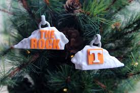 Of Tennessee Ornaments The Ut Rock Ornament College Replicas