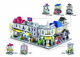 taxe bureau city mini view building block library tax