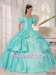 unique quinceanera dresses the shoulder puff sleeves cyan quinceanera dress
