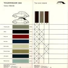 thesamba com vw archives 1964 65 vw bug and ghia colors