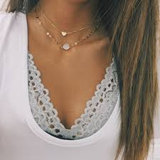 heart chain choker necklace images Gold heart chain choker choker chains and clothes jpg