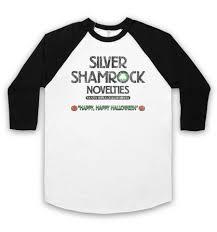 Halloween 3 T Shirt by 3 Baseball Shirt Silver Shamrock Novelties