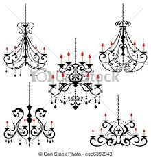 Black Chandelier Clip Art Vectors Of Chandelier Illustration Vector Csp6392943 Search