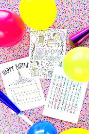 coloring pages free printable birthday cards fresh decor animal