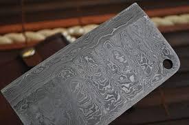 handmade chef knife damascus steel 2 5 inch wide blade perkin