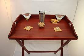 serving tray side table amazon com butler tray stand red bloodwood coffee table with stand