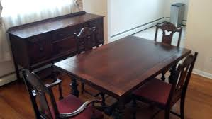 i have a 1940s vintage solid mahogany dining room set that