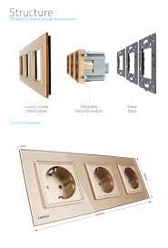 luxury power outlets livolo eu standard triple power sockets 16a wall outlet vl c7c3eu