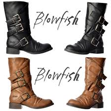 buckle motorcycle boots blowfish kasbah three buckle mid calf winter biker boot black