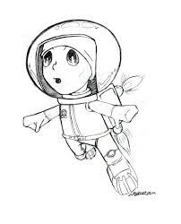little astronaut sketch by ink5000 on deviantart