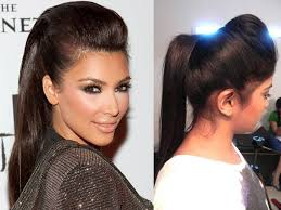 front poof hairstyles kim kardashian inspired ponytail with a puff youtube