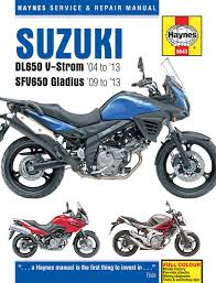 suzuki dl650 v strom u0026 sfv650 gladius 04 13 haynes repair manual