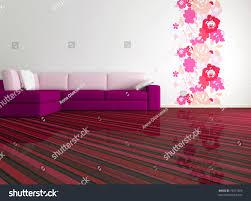 bright interior design modern living room stock illustration