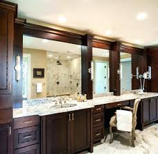 Double Vanity Mirrors For Bathroom by Bathroom Cabinets Bathroom Mirror Chrome Oak Bathroom Mirror
