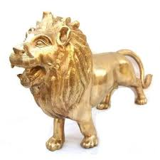 metal lion statue lion statue at rs 650 kilogram sher moorti k k
