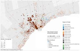 Map Of Toronto Maps Of Sources Of Immigration To Toronto Region Pre 1941 2005