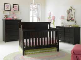 Espresso Convertible Crib by Baby Nursery Room With Neutral Wall Color And Espresso Convertible
