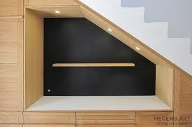 cuisine sous escalier hegenbart meuble sur mesure pour séjour et entrée