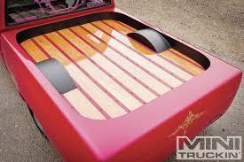 pink jeep bed 1993 nissan hardbody hater creator mini truckin magazine