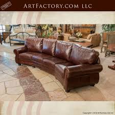 Curved Sofa Leather Best Curved Leather Sofas Custom Leather Sofa Curved Four Cushion