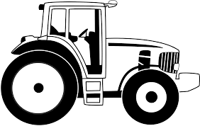 tractor clipart line drawing pencil and in color tractor clipart