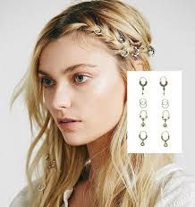 hair rings images images Hair rings gold ivory 10 piece set arrows firebirds tribal jpg