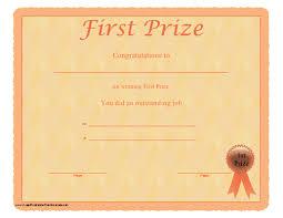 doc 650502 first place award certificate u2013 1st place certificate