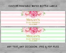 custom wedding printable water bottle labels pink watercolor