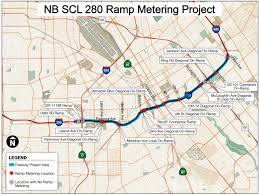 San Jose California Map by Caltrans District 4 I 280 Ramp Metering And Ramp Widening