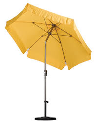 Aluminum Patio Umbrella by Aluminum 7 5 Yellow Patio Market Umbrella With Stand Canopy Outdoor