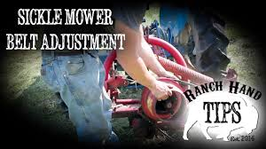 sickle mower belt adjustment ranch hand tips youtube