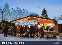 markets in winter landshut lower bavaria bavaria stock