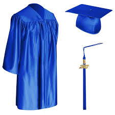 cap and gown for graduation royal blue child graduation cap gown tassel