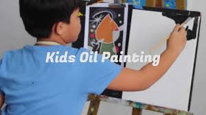 kids oil painting class at vinspace art studio youtube