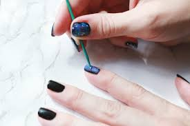 easy galaxy nails mani diy u2013 a beautiful mess