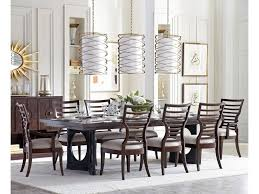 stanley furniture virage 9 piece double pedestal dining table set