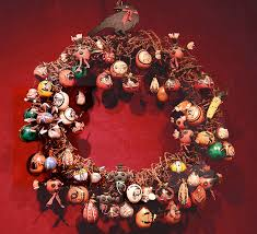 gourd ornaments by robert rivera at the torres gallery santa