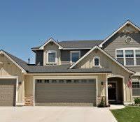 gray exterior house paint ideas white trim black shutters colors