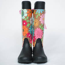 Rainboots Flower Pink Wraps With Rain Boots Aly U0027s Boots