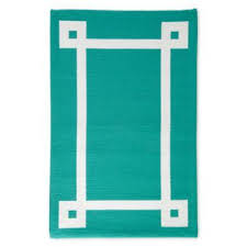 Turquoise Indoor Outdoor Rug Chic By Jonathan Adler Indoor Outdoor Turquoise And White Rug