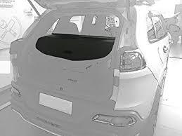 jeep grand trunk cover amazon com kongka cargo security rear trunk cover retractable for